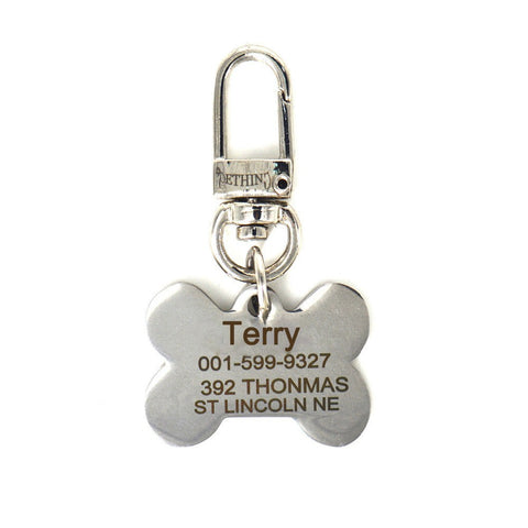 Free Engraving Text On Stainless Steel Pet Dog Tag