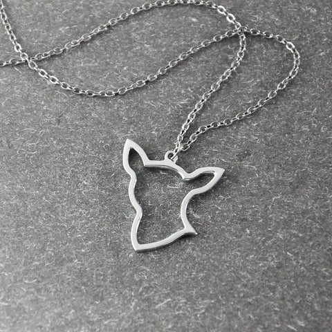 Face Hollow Pendant Chihuahua Necklace