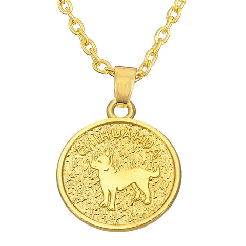Christmas Gift Cute Chihuahua Pendant Necklace