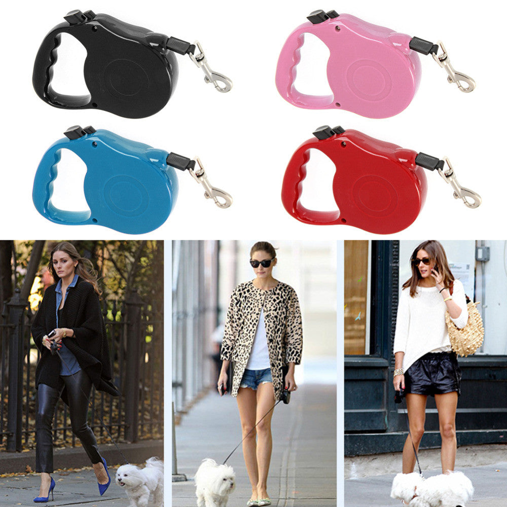 Colorful  Retractable Dog Leash Extending Puppy Walking Leads