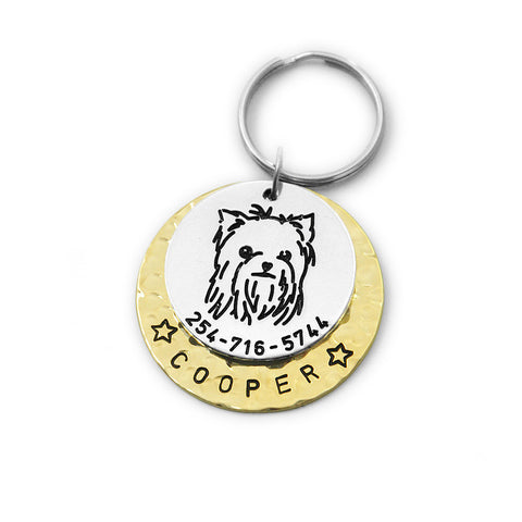 Custom Yorkshire Terrier Dog Tag KeyChain
