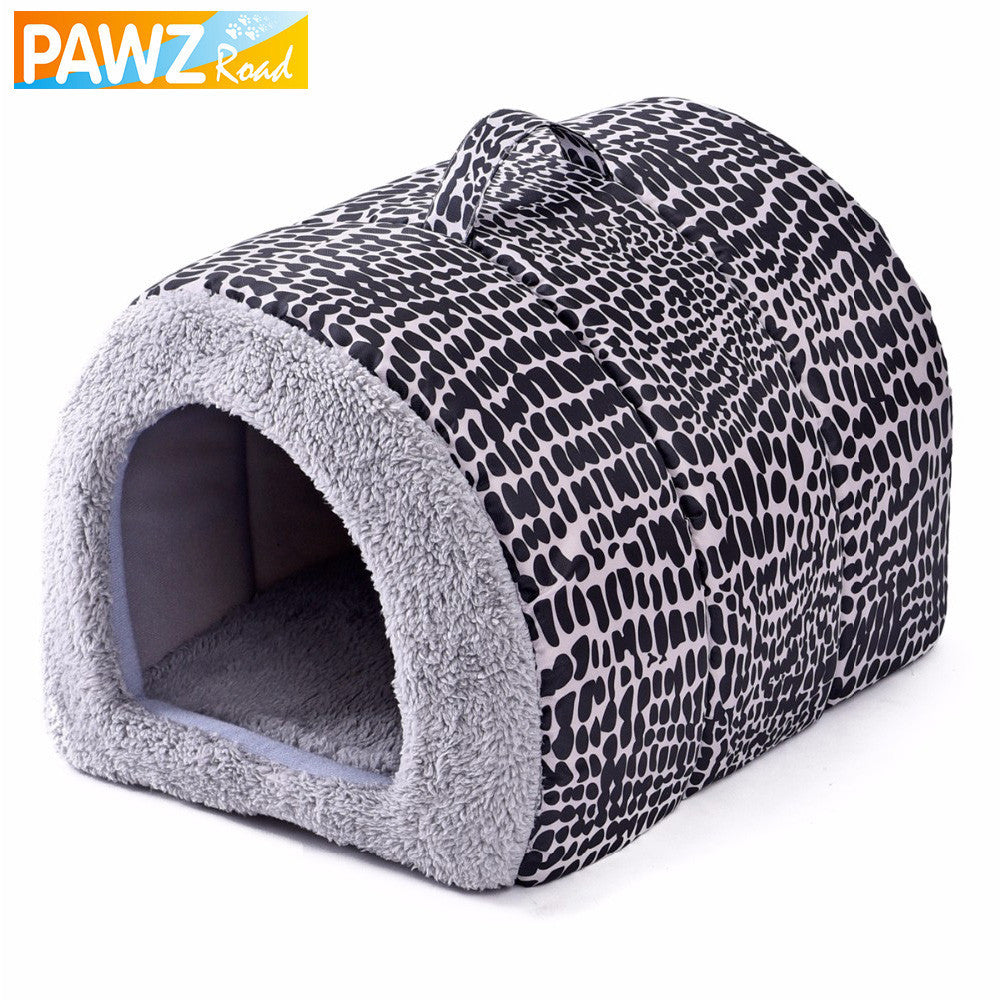 Leopard Easy to Carry Pet Bed Lovely