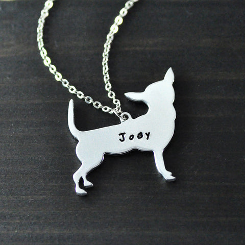 Chihuahua Necklace Pendant Custom Name