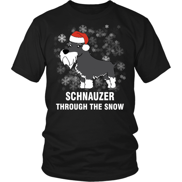 Schnauzer Through The Snow