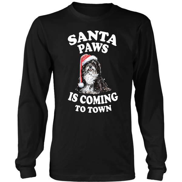 Shih Tzu Santa Paws Is Coming To Town