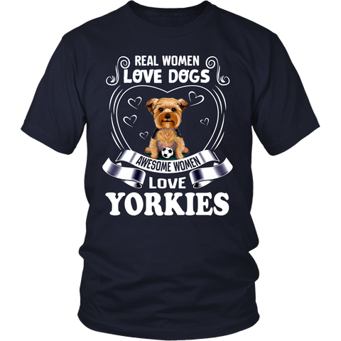 Real Woman Love Dogs Awesome Woman Love Yorkies