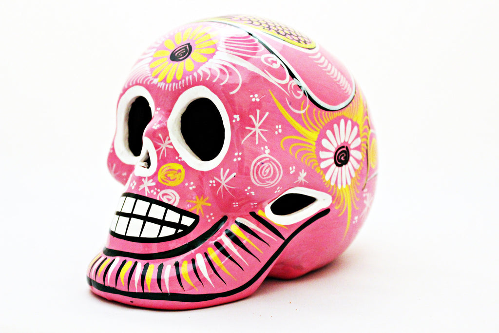 DAY OF THE DEAD HANDMADE PINK SKULL