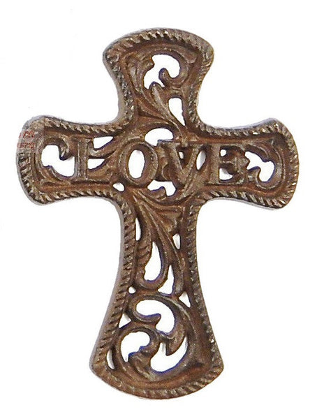 CAST IRON LOVE CROSS