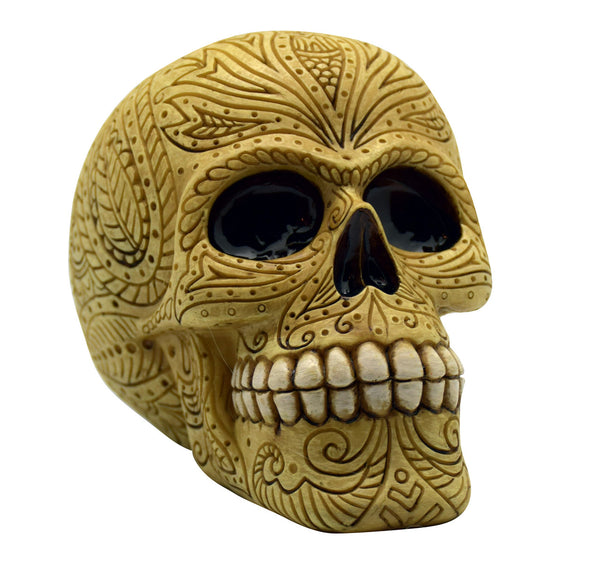 BONE COLORED SKULL BANK