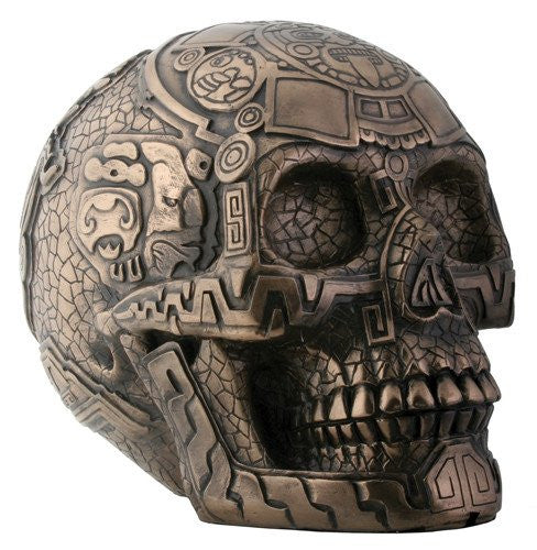 Aztec skull is very Detailed and Hand Painted.