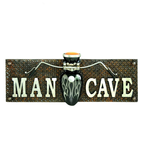 MOTORCYCLE MAN CAVE 3D WALL PLAQUE