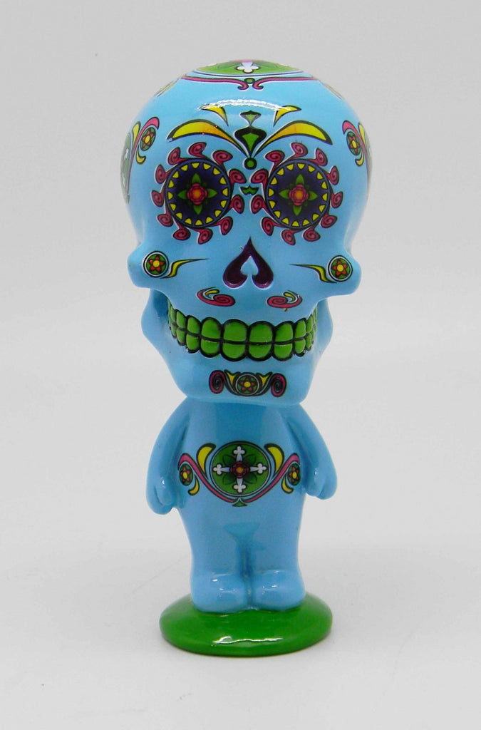 DAY OF THE DEAD/SUGAR SKULL BLUE BOBBLEHEAD