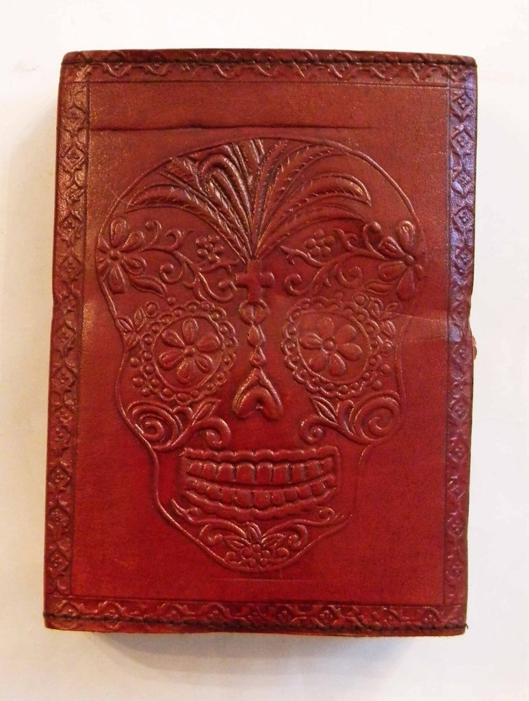 DAY OF THE DEAD/SUGAR SKULL LEATHER JOURNAL
