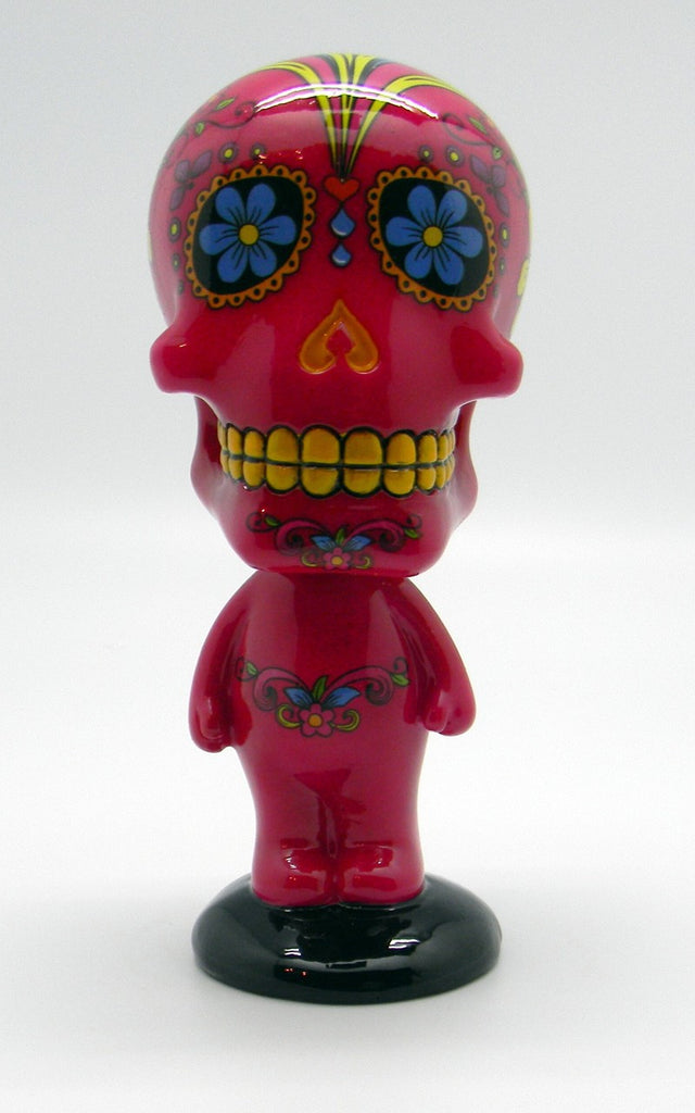 DAY OF THE DEAD/SUGAR SKULL PINK BOBBLEHEAD