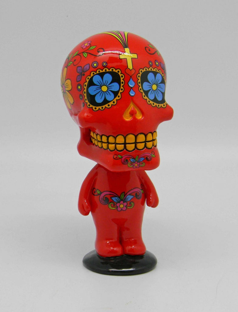 DAY OF THE DEAD/SUGAR SKULL RED BOBBLEHEAD