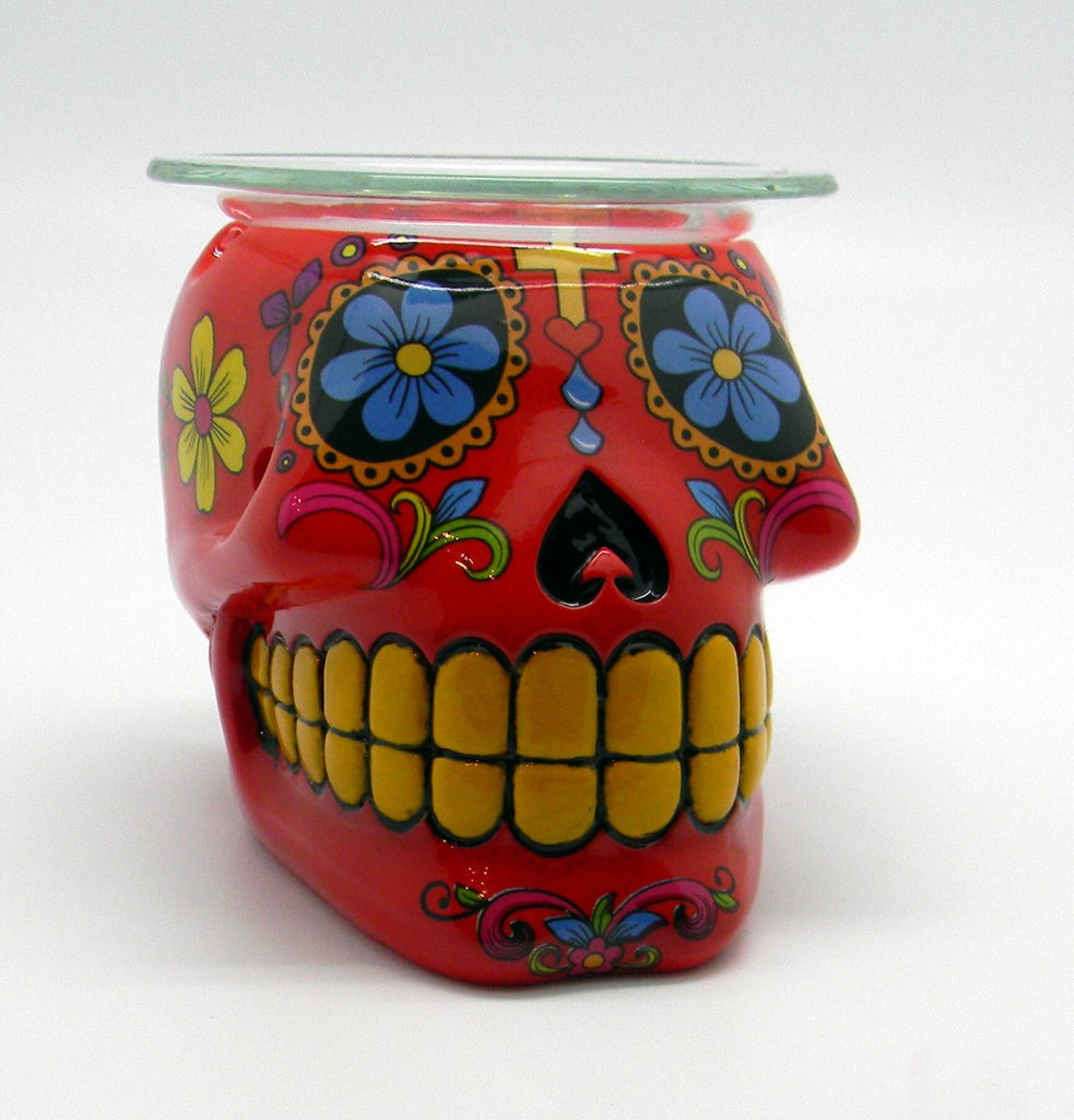 DAY OF THE DEAD/SUGAR SKULL RED OIL BURNER