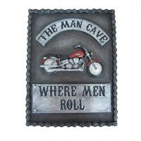 MOTORCYCLE MAN CAVE SIGN