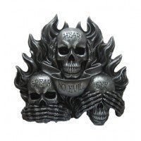 SEE, HEAR & SPEAK NO EVIL SKULLS