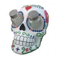DAY OF THE DEAD / SUGAR SKULL SALT & PEPPER HOLDER
