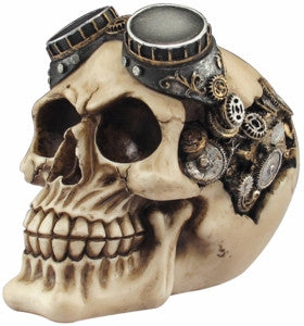 STEAMPUNK SKULL WITH GOGGLES