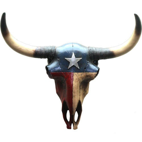 TEXAS FLAG COW SKULL