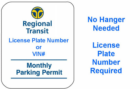 RT Monthly Parking Permit - July  2017