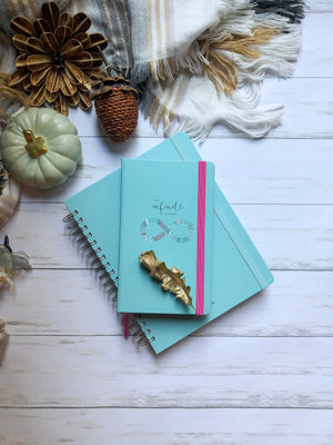 "Undated - My Infinite Agenda - Coral with Teal (180 Days) - 5"" x 8.25"" 
