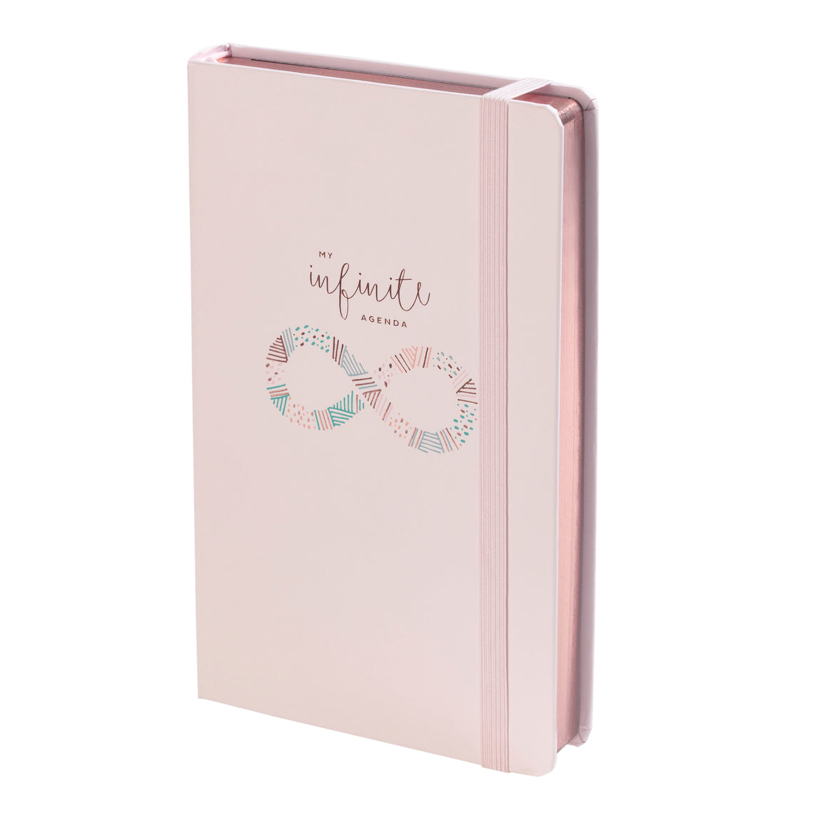 "Undated - My Infinite Agenda - Blush with Rose Gold (180 Days) - 5"" x 8.25"", $29"