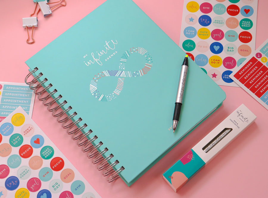 My Infinite Agenda - Teal/Silver 2020 ($58)