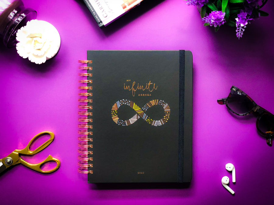 My Infinite Agenda - Black/Rose Gold 2020 ($58)