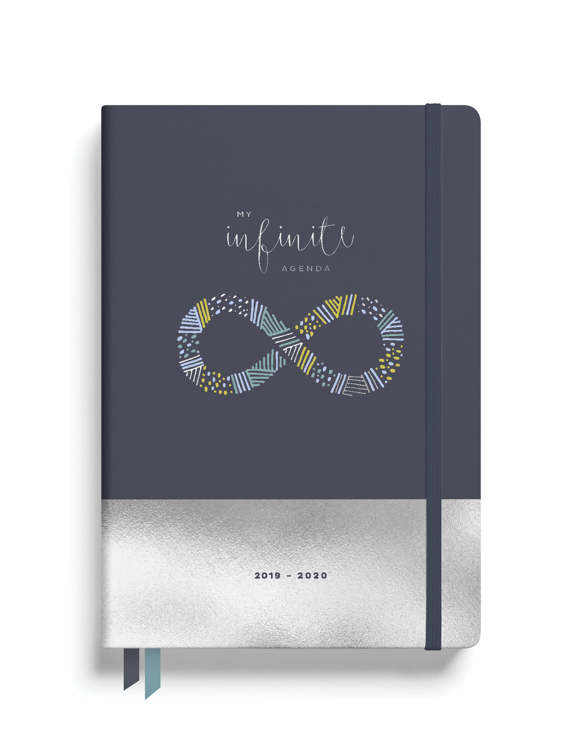 August 2019- August 2020 Midyear Planner - Charcoal with Silver Foil ($25)