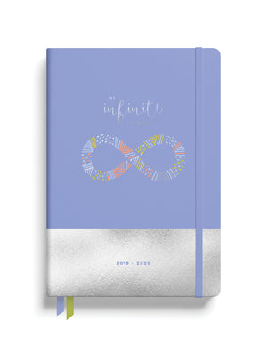 August 2019-August 2020 Midyear Planner - Periwinkle with Silver Foil ($5)