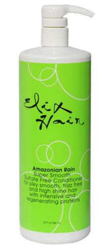 Amazonian Rain SuperSmooth Sulfate Free CONDITIONER 32oz - Elixhair Luxury Hair Care Formulas