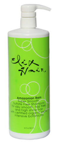 Amazonian Rain SuperSmooth Sulfate Free SHAMPOO 32oz - Elixhair Luxury Hair Care Formulas
