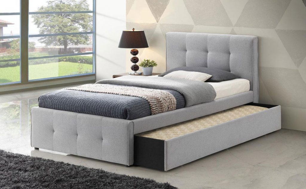 Picture of: Cairns Trundle Bed Frame Silver Grey Dial A Bed