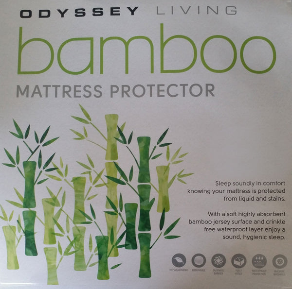 Odyssey Living King Single Bamboo Mattress Protector