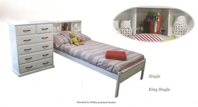 Bookcase King Single Bed Frame - Dial a Bed