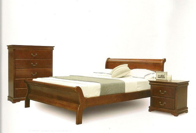 Shelby Queen Sleigh Walnut Bed Frame Dial A Bed