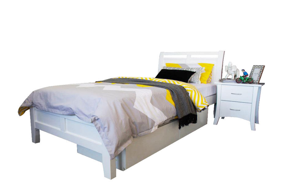 Soho King Single White Timber Frame - Dial a Bed