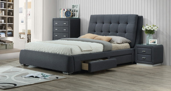 Vara Upholstered King Bed Frame