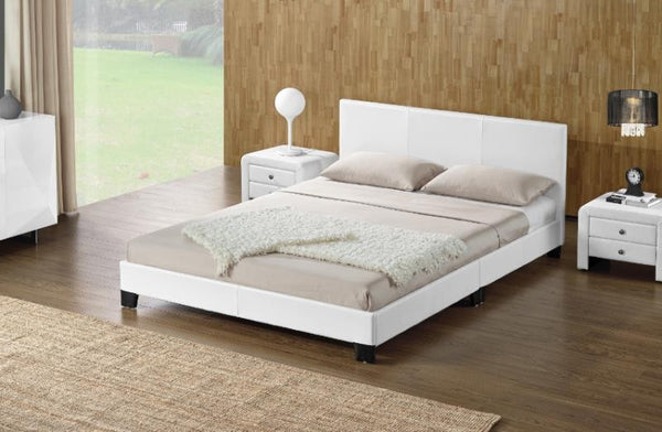 Monica Queen PU Leather Bed Frame