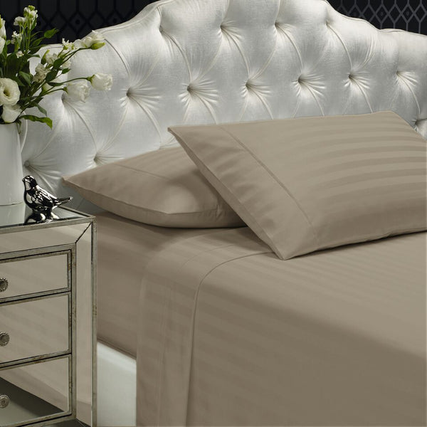 Royal Comfort 1200 TC Damask Stripe Cotton Blend Sheet Set King