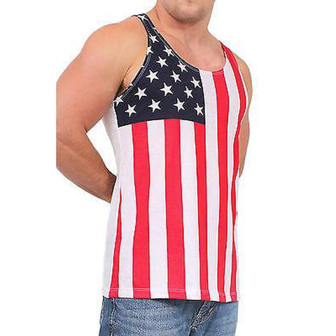 USA Flag Tank Top Stars & Stripes,  Men - Apparel - Activewear - Tops - Found Lost Outdoors