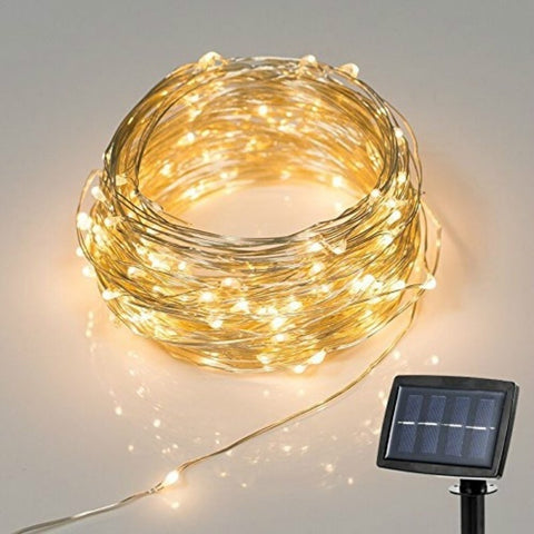 56 Feet 150 LEDS Decorative Solar String Lights,  home - Found Lost Outdoors