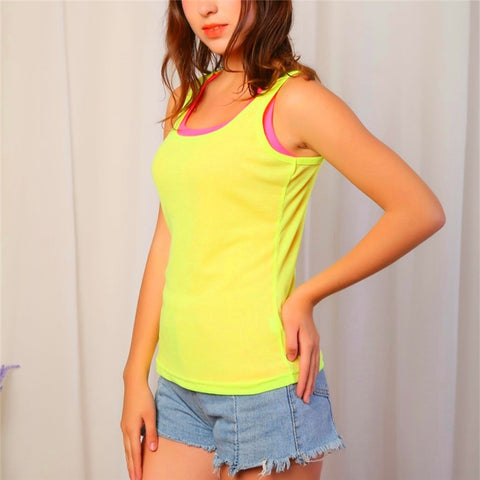 Women's Neon O-neck Slim Tank Tank Tops,  Women - Apparel - Activewear - Tops - Found Lost Outdoors