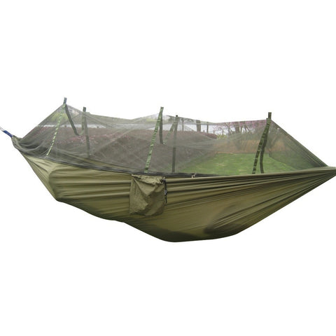 Portable Tactical Outdoor Waterproof Parachute Fabric Hammock with Mosquito Net,  Hammock - Found Lost Outdoors