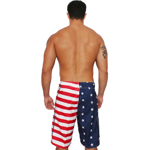 Patriotic American USA FLAG Board Shorts/Swim Trunks,  Women - Apparel - Lingerie and Sleepwear - Underwear - Found Lost Outdoors