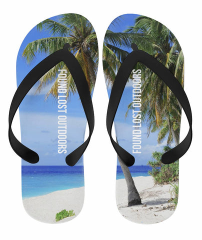 Palm Tree Island Flip Flop Sandals,  Footwear - Found Lost Outdoors