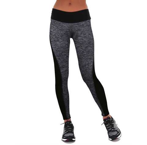 Black And Gray Paneled Slimming Leggings For Running / Yoga /Sports,  Women - Apparel - Activewear - Leggings - Found Lost Outdoors