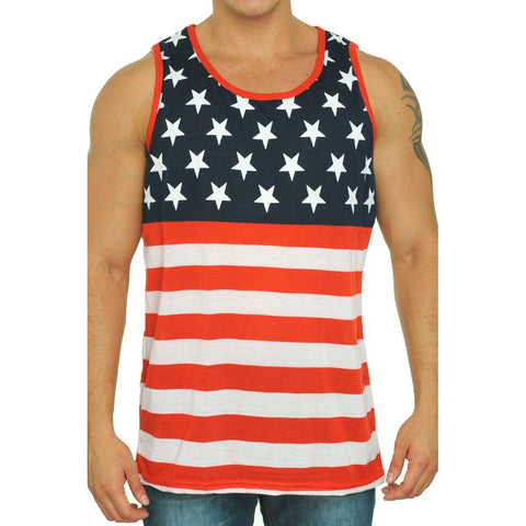 USA Flag Men's Tank Top American Pride Sleeveless Shirt,  Men - Apparel - Activewear - Tops - Found Lost Outdoors